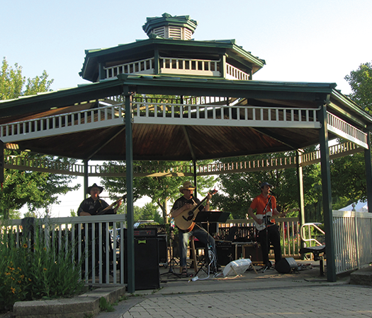 Band Performing at Concert in the Park