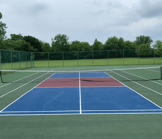 Pickleball court at Bridlewoods Park