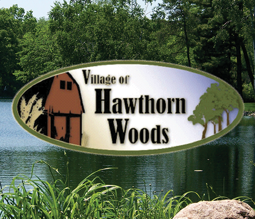 Village of Hawthorn Woods Logo with Lake