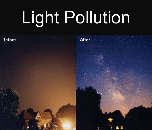 Light Pollution Before and After